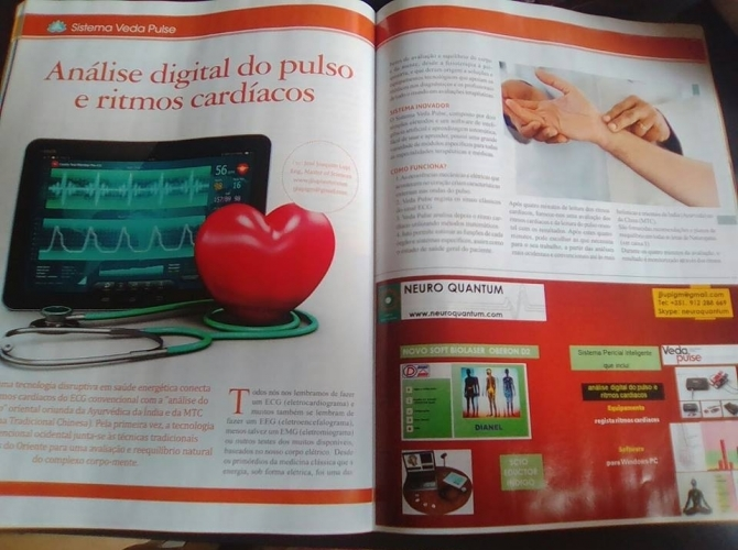 VEDA PULSE: Tecnologia Médica - Electro-fisiologia - Analise do Pulso - TOP QUANTUM